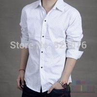 Spring and Autumn mens long-sleeve slim fit casual dress  shirt  Camisa Masculina Camisa Social 1051