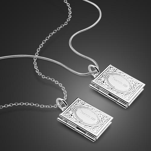 can put photos Quartet photo pendants,retro 925 sterling silver necklace silver locket(China (Mainland))