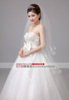 New 2015 Weddings Princess wedding dress Bride Bra Qi pregnant women lace wedding dresses flowers vestido de noiva 418