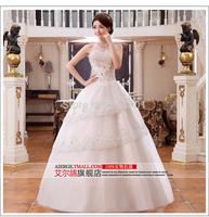 2015 new Korean lace wedding dress bride weddings Qi Crystal Sexy wedding dresses Bra vestido de noiva fashionable 419