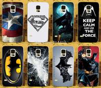 1PC Cool 3D batman Bat Man SuperMan Super Man Logo freeshipping hard back print case cover For Samsung galaxy s5 S V i9600