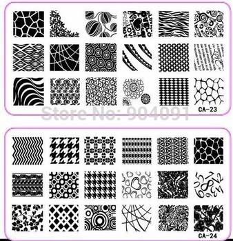 Retail 1PCS/LOT CA Series 32 number choose Size 120*60MM  Stamp Stamping Image Konad ...