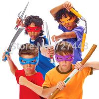 2014 New TMNT Teenage Mutant Ninja Turtles Weapon Cosplay Anime action figure Plastic Samurai Sword Model Toy For Children Knife