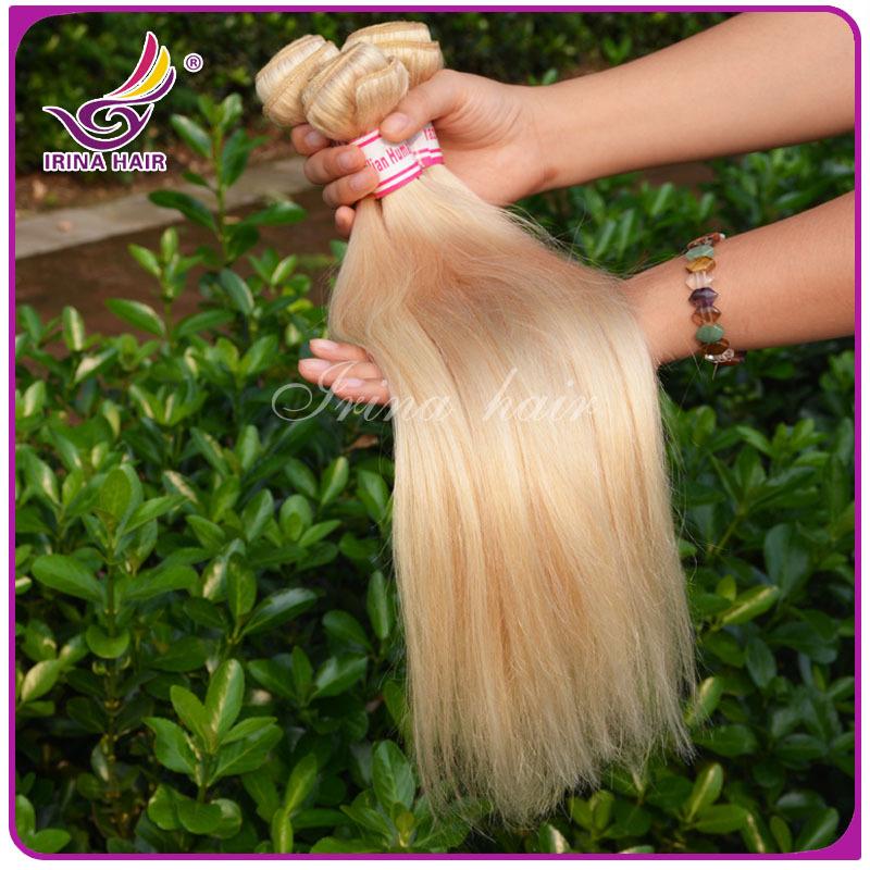 Sew in Hair Extensions Weft Brazilian Virgin Hair Honey Blonde Color ...