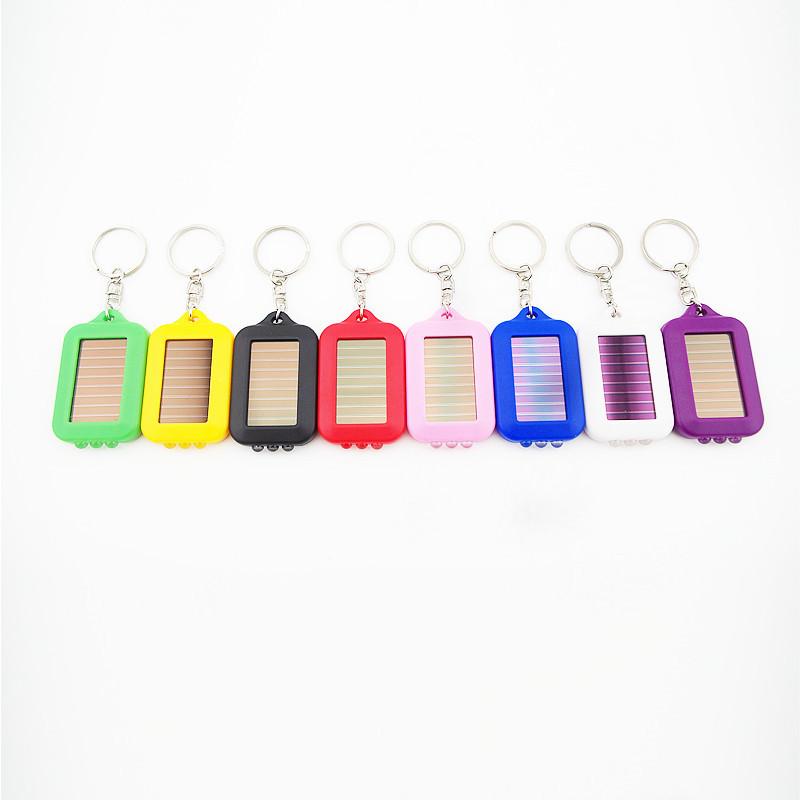 1 PCS LED Lamp Keychain White light Flashlight Mini Fashion Solar Power Flashlight Key Chain Solar Charging Camping Supplies(China (Mainland))