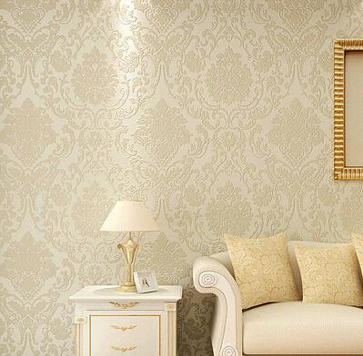 buy non woven metallic wall paper golden