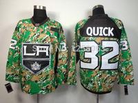 Free Shipping Los Angeles Kings #32 Jonathan Quick Camo #99 #11 #23  Men's Ice Hockey Jerseys Size:48-56 Mix order