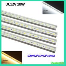 4PCS/lot Free Shipping LED Strip Light 5630SMD DC12V 10W LED Rigid Strip Aluminum Alloy Shell LED Bar Light LED Rigid Bar Light(China (Mainland))