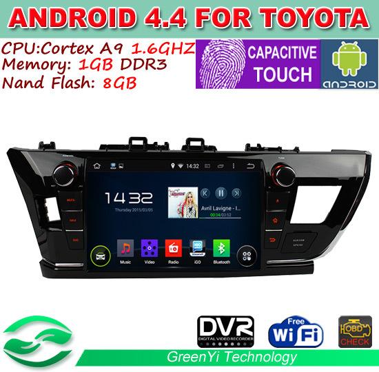 Автомобильная видеокамера GreenYi HD 9 Android 4.4 Toyota Corolla DVD GPS WiFi 3G farcar s170 toyota corolla android l063