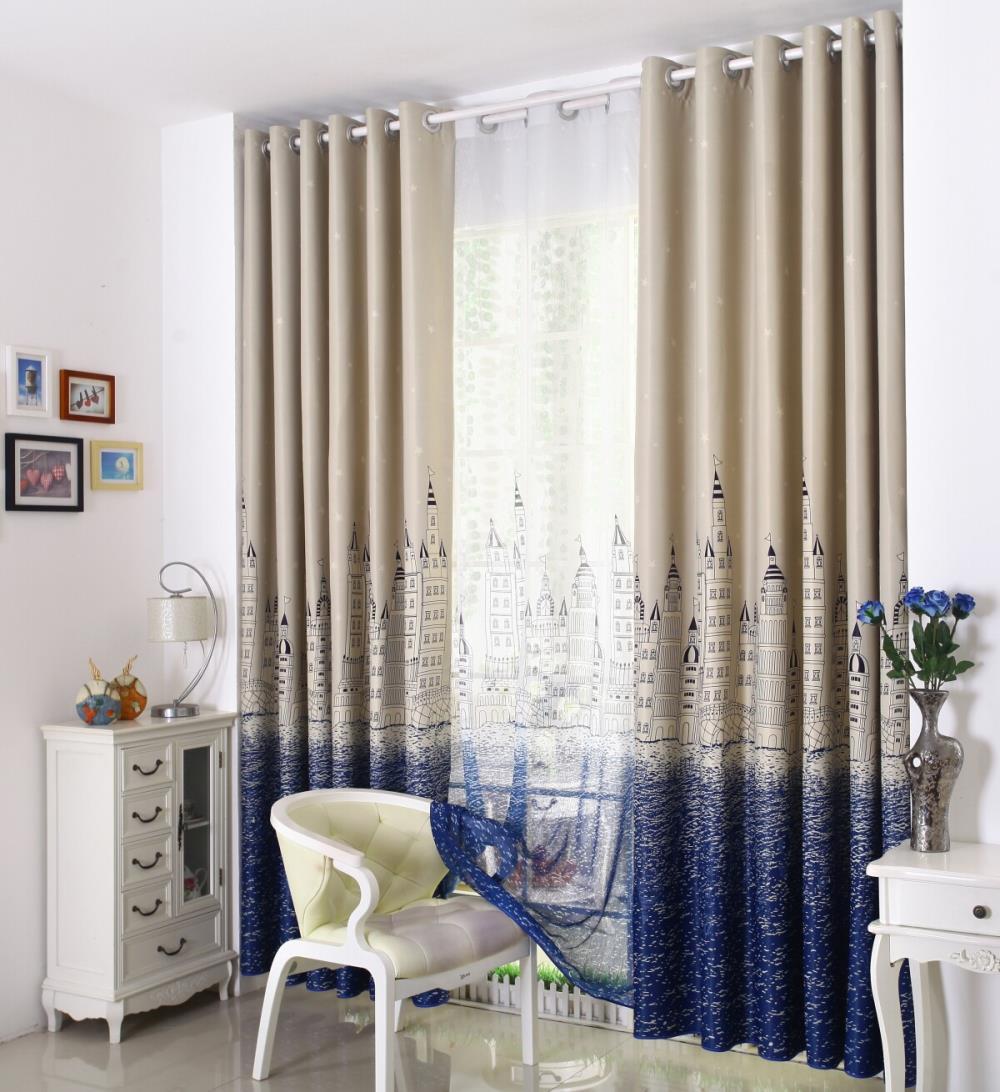 Gordijnen woonkamer kosten: ramen op maat gedrukte gordijnen kant ...
