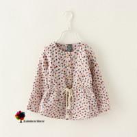 New Children Clothing Autumn Spring Girls Soft Lovely Long-sleeved Stars Printed Cotton Half Dress  Girls Dress Girls Blouse