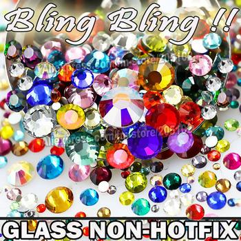 Ногтей Cystals сочетание размеров цвета 800 шт./пакет, стекло , не исправление FlatBack ...