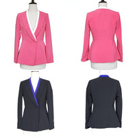 2014 autumn new arrival slim V-neck one button small suit jacket female suit h531587