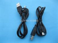 USB 4Pin Male to Mini USB 5 pin Male Cable 80cm 0.8m Long Black Color 15 pcs per lot HOT Sale High Quality