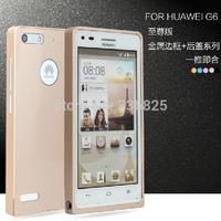 with six colours phone case HUAWEI G6 top grade metal phone bumper for HUAWEI G6-C00 free shipping