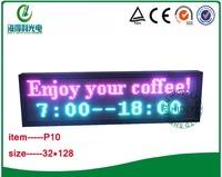 32*128cm 10mm led display screen /DC5V full color led  message moving scrolling sign display