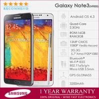 "N9005 Original note3 samsung galaxy note 3 n9000/n9005 Unlocked Quad-Core 16GB ROM 5.7""Touchscreen 13MP 3G WIFI GPS Refurbished"