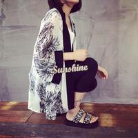 Summer Vintage Women Ladies Romantic Floral Print Chiffon Cardigan Kimono Top Jacket Blouse #005 SV000035