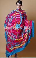 140x140cm 2014 super large belt cashere winter scarf / women blue scarf wraps wool pashmina free shipping