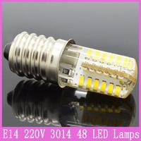 5x E14 SMD 3014 LED Tube Corn Bulbs 3W/7W/9W AC 220V Silicone Crystal Lamps Spotlight Refrigerator Home Lighting Chandelier