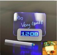 creative alarm message board Led alarm clock with Message Board Calendar USB HUB lazybones Alarm Clock LED Luminous Luminova