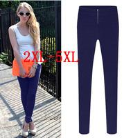 Europe new Autumn elastic leisure zipper plus size 5XL pencil women pants, 4XL women's trousers XXL/XXXL/XXXXL/XXXXXL TY8086LK