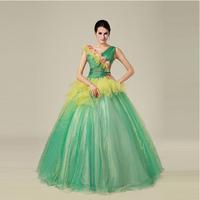 new new style sleeveless floor-length V-neck beautiful prom dresses high quality
