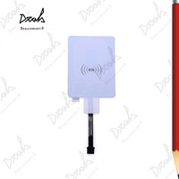 Universal QI Wireless Charging Charger Receiver Pad Coil for All Micro USB Mobile Phone 20Pcs/Lot DHL Free Shipping