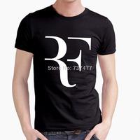 Hot Roger Federer RF Men T Shirts Cotton O Neck Short Sleeves American Apparel Mens Shirt Wholesale Tops Free Shipping