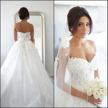 Vestido де noiva романтический белый милая из бисера аппликация тюль бальное платье свадебное платье бесплатная доставка