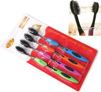 2014 wholesale retail drop Korea nano bamboo Anion Charcoal health dual adult toothbrush high quality 4pcs/pack free shipping