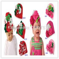 Retail kids baby 6 colour  Flower Beautiful Christmas boy  boys girls hat infant cap free shipping