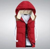 CD-56 2014 Autumn winter vest Lovers Women men Cotton vest women Casual Veste femme Waistcoat Down vest women Sleeveless jacket