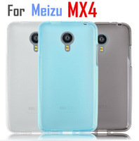 Hot sale protective Silicon pudding TPU cover case / Screen film protector For Meizu MX4 mobile phone Free shipping