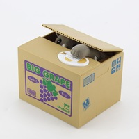 Grey New Itazura Automated Steal Stealing Money Cat Coin Money Saving Box Bank