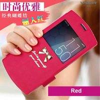 Meitu 2 MK260 leather case ,Vpower Bowknot leather case, Meitu 2 MK260 with free protector+retail packing Free & drop shipping