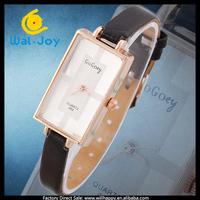 100/lot hot sale narrow leather strap gogoey vogue ladies watch quartz (WJ-2390)