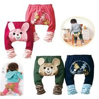 New Design Fashion Cotton PP Pants baby clothing Cartoon Animals Fashion emoji Cute baby pants winter legging Free Shipping
