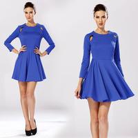 Novelty Dresses For Women New Fashion 2015 Autumn Women Slim Elastic Fashion Expansion Bottom One-piece Dress 58033#