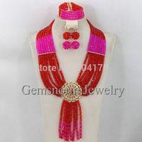 Pretty New African Wedding Jewelry Set Nigerian Beads Bridal Jewelry Set 2015 Fashion Women Jewelry Set Free Shipping GS364