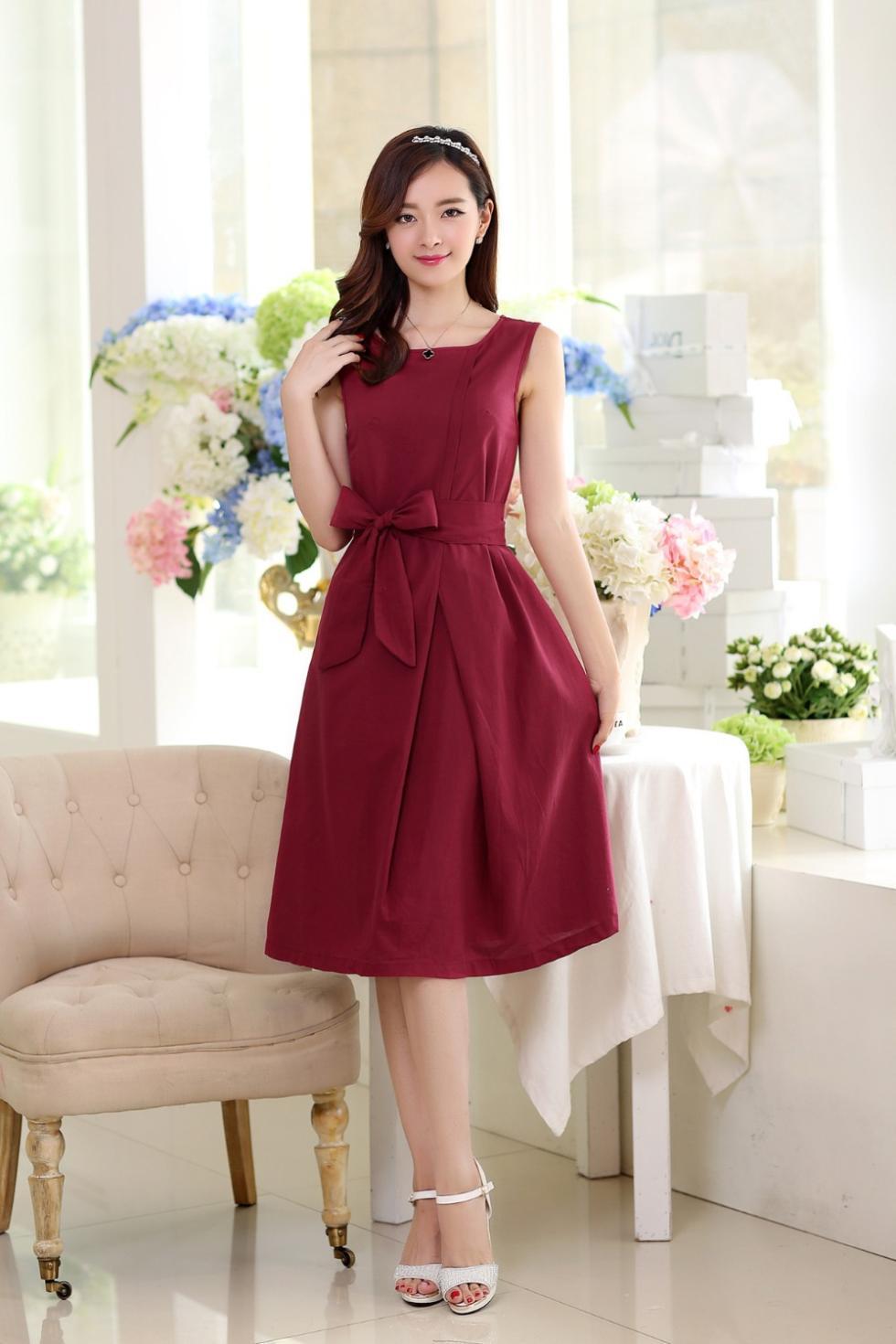 Summer fashion 2014 fluid one-piece dress hemp expansion bottom full dress linen net dresses(China (Mainland))