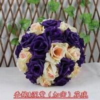 25cm quality rose ball mix color dried flowers artificial flower silk flower plastic flower wedding bouquet home decoration A60