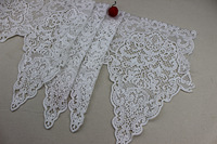 Free Shipping DIY Hollow Out Clothes Lace Fabric, 30 cm Wide White Embroidery Flower Lace Trim Home Decor
