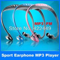 high quality Stereo Sport MP3 Music Player Headset Handsfree Headphones Wrap Around Wireless with TF Card slot + FM Radio