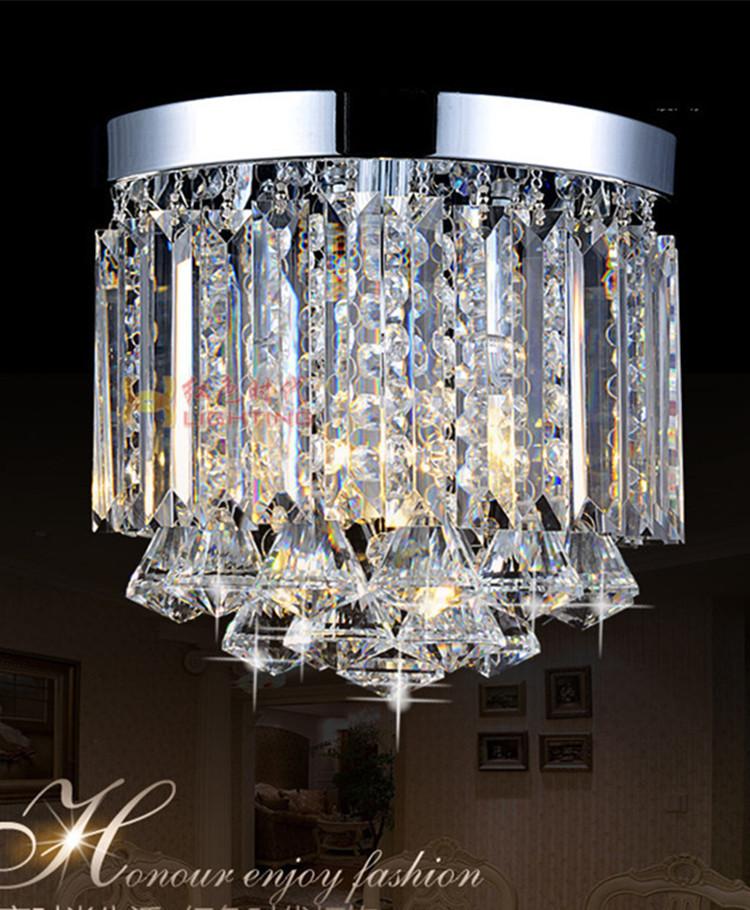 250MM diamond crystal lamp lights LED crystal Ceiling lamp bedroom modern ceiling lighting kids room aisle corridor lights(China (Mainland))