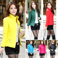 2015 New Women Fashion Down Ladies Cotton Short Paragraph Korean Version Slim Warm Winter Padded Coat Zipper Solid Pockets