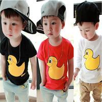 New Design High Quality Boys Clothes Cartoon Ducks Roupas Meninos Kids Clothes Child Boy's T Shirt 3 Colors Free Shipping