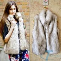 Fashion Winter Sleeveless Warm Women Faux Fur Vest fur coat Jacket Waistcoat Coat kamizelka futro bont gilet