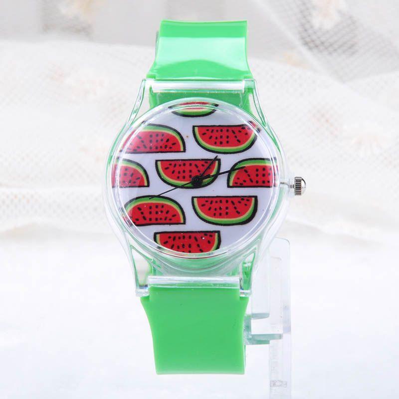 Fashion Fresh Summer Lovely Transparent Case Wristwatch, Women Candy Color Quartz Rubber Band Wrist Watch Clock Y60*MHM393#M5(China (Mainland))