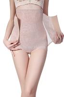 2014 women slim luxury lace high waist Control Panties Shapers XJ1024 lady buckle front Underwear body Shapers Black